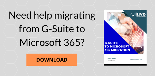 G-Suite to Microsoft 365 Migration cta
