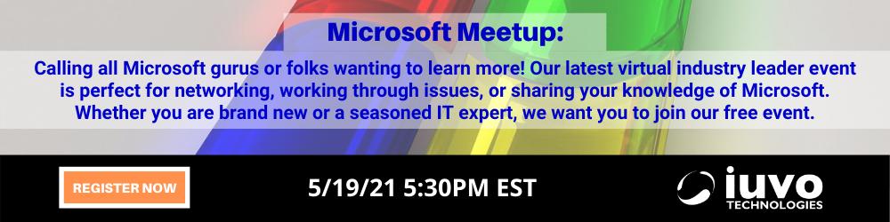 iuvo_MicrosoftMeetup_IndustryLeaderEvent_WebModule